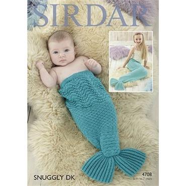 Sirdar Pattern #4708 Mermaid Cocoons in DK