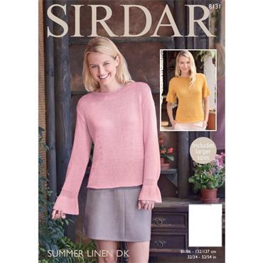 Sirdar Pattern #8131 Tops in Summer Linen DK