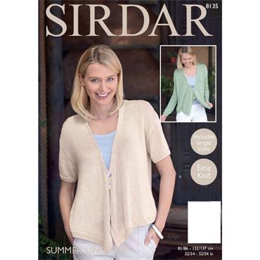 Sirdar Pattern #8135 Cardigans in Summer Linen DK