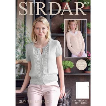 Sirdar Pattern #8138 Cardigans in Summer Linen DK