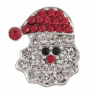 Diamante Santa Button - 23mm