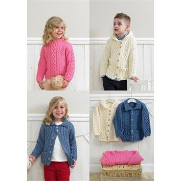 Stylecraft #4205 Duffle Jackets & Sweater in Aran