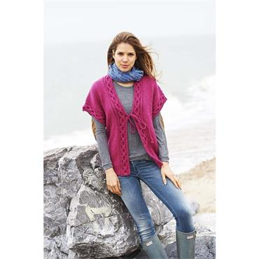 Stylecraft Pattern #9021 Ladies Aran Cardigan