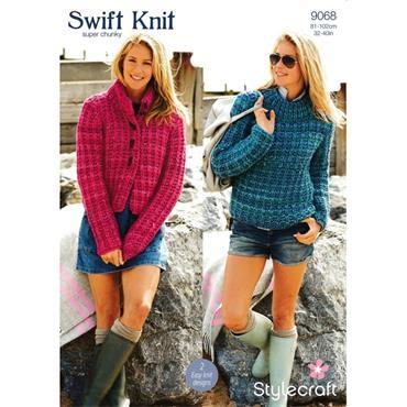 Stylecraft Pattern #9068 Jacket & Sweater in Swift Knit Super Chunky