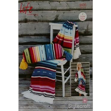 Stylecraft Pattern #9436 Crochet Serapi & Bolster Cushion