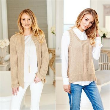 Stylecraft Pattern #9507 Vest & Jacket in Linen Drape DK