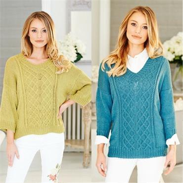 Stylecraft Pattern #9512 Sweaters in Linen Drape DK