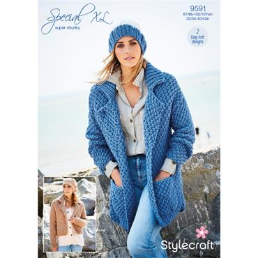 Stylecraft Pattern #9591 Jackets in Special XL