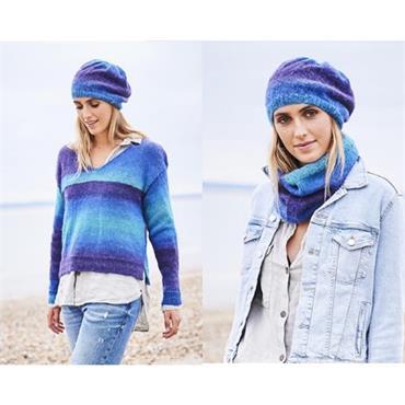 Stylecraft #9596 Sweater, Beret & Snood in Dream Catcher