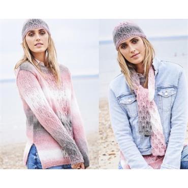 Stylecraft #9597 Sweater, Scarf & Hat in Dream Catcher