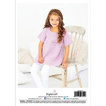 Stylecraft Pattern #9607 Crochet Cabbage Patch Dress in Bambino DK
