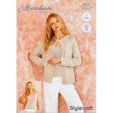 Stylecraft #9625 Cardigan & Vest in Moonbeam DK