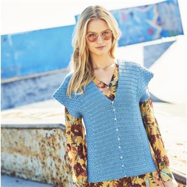 Stylecraft #9630 Crochet Cardigan & Sweater in Linen Drape DK