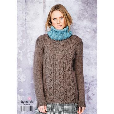 Stylecraft Pattern #9662 Sweater & Snoods in Special Aran with Wool