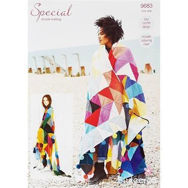 Stylecraft Tessellation Crochet Blanket Pattern #9683 in DK