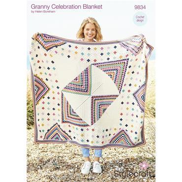 Stylecraft Pattern #9834 Granny Celebration in Bellissima & Bambino DK