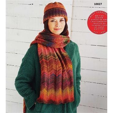Sirdar Pattern  #10027 Hat & Scarf in Aran