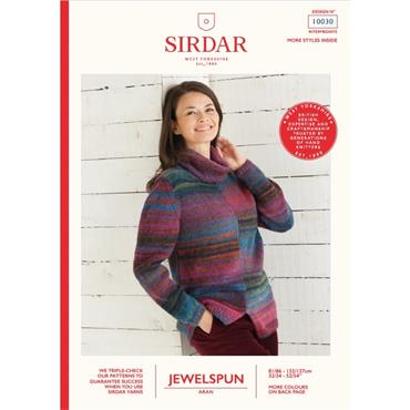 Sirdar Booklet #10030 Roll Neck Aran Sweater