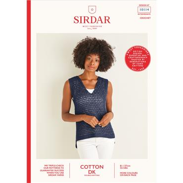 Booklet #10114 Ladies Crochet Top in Cotton DK