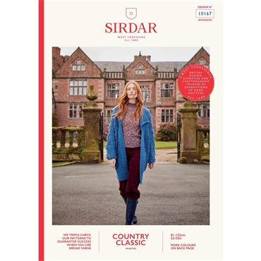 Sirdar Booklet #10167 Longline Bobble Cardigan in Aran