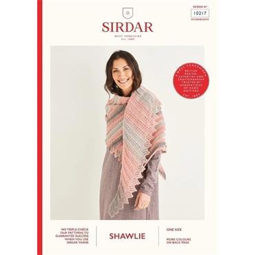 Sirdar Booklet #10217 Shawl in Shawlie