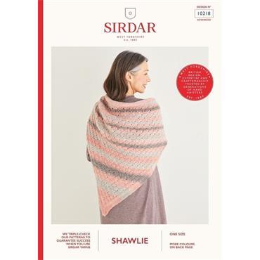 Sirdar Booklet #10218 Shawl in Shawlie