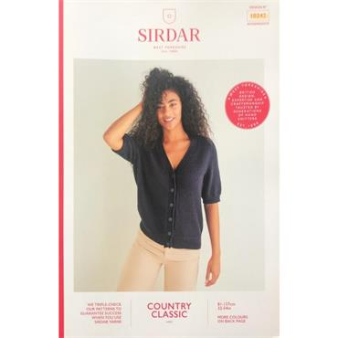 Sirdar Booklet #10242 Cardigan in Cotton 4ply