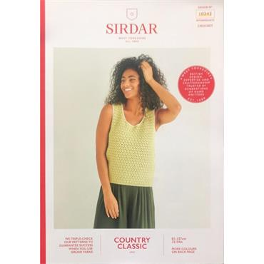 Sirdar Booklet #10243 Vest in Cotton 4ply