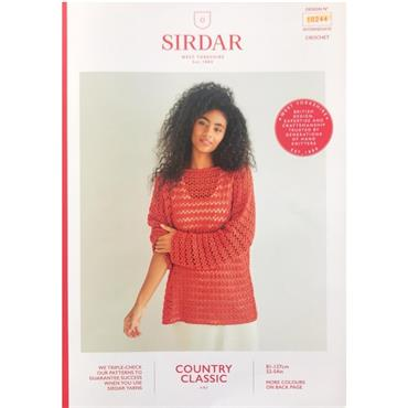 Sirdar Booklet #10244 Sweater in Cotton 4ply