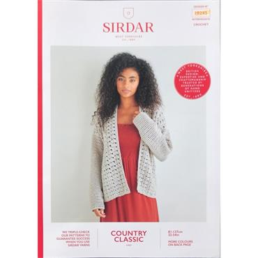 Sirdar Booklet #10245 Cardigan in Cotton 4ply