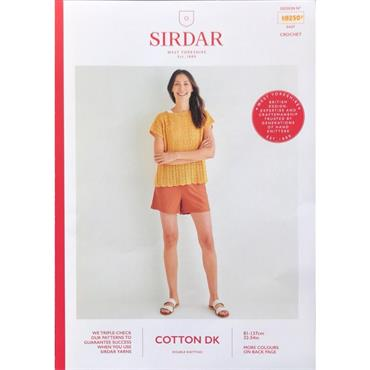 Sirdar Pattern #10250 Top in Cotton DK