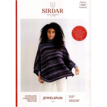 Sirdar Pattern #10287 Poncho in Jewelspun