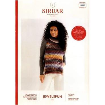 Sirdar Booklet #10292 Cabled Bib in Jewelspun