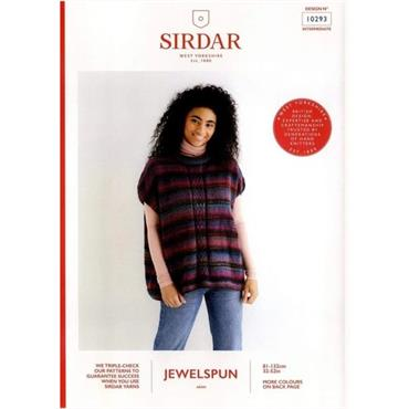Sirdar Pattern #10293 Sleeveless Relaxed Tunic in Jewelspun