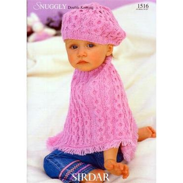 Sirdar Pattern #1516 Baby Poncho & Beret in DK