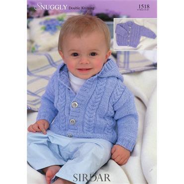Sirdar Pattern #1518 Cardigans in Snuggly DK