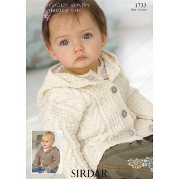 Sirdar #1733 Coat in Snuggly Baby Bamboo DK
