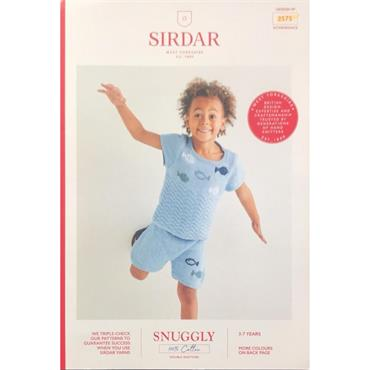 Sirdar Booklet #2575 Kids Top & Shorts in Snuggly 100% Cotton DK