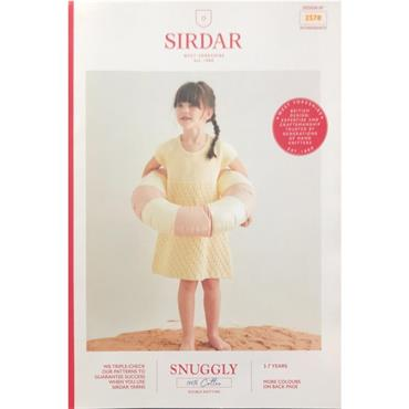 Sirdar Booklet #2578 Kids Dress in Snuggly 100% Cotton DK