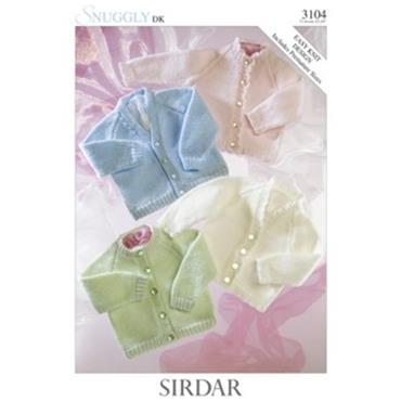 Sirdar Pattern #3104 Baby Cardigans (Premature sizes included)
