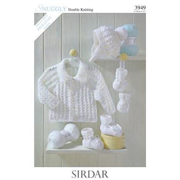 Sirdar Pattern #3949 Jackets, Hat, Bootees & Mittens in Sirdar DK