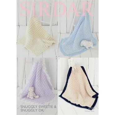 Sirdar #4700 Blankets in Sweetie & Snuggly DK