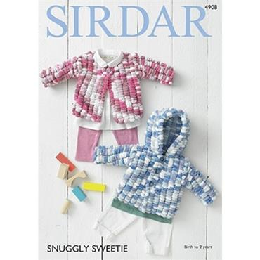 Sirdar Pattern #4908 Cardigans in Snuggly Sweetie