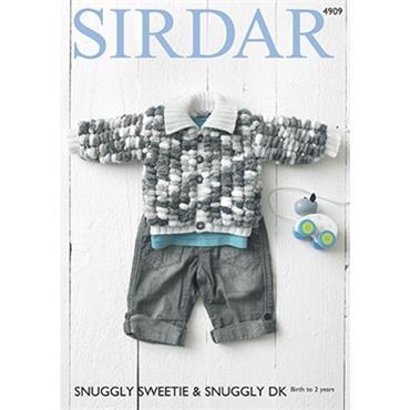 Sirdar Pattern #4909 Jacket in Snuggly Sweetie