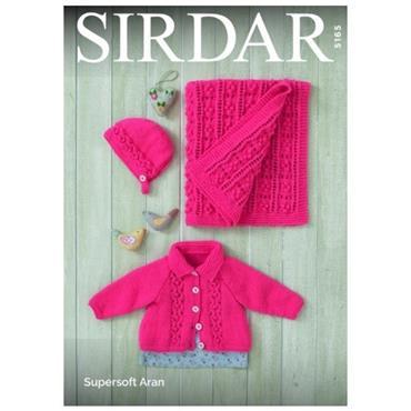 Sirdar Pattern #5165 Jacket, Bonnet and Blanket in Aran