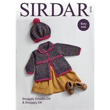 Sirdar Pattern  #5173 Easy Knit Coat & Beret in Snuggly DK