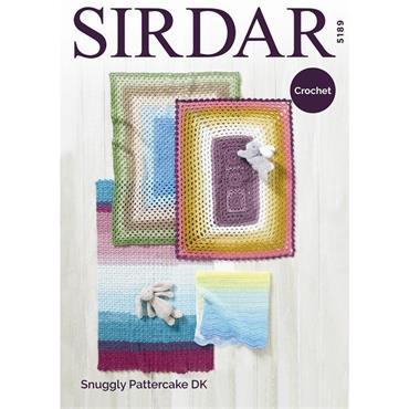 Sirdar #5189 Crochet Blankets in Snuggly Pattercake DK