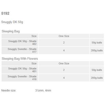 Sirdar #5192 Sleeping Bags in Sweetie & Snuggly DK