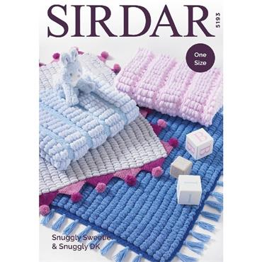 Sirdar #5193 One Size Blankets in Snuggly Sweetie & Snuggly DK