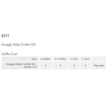 Sirdar Pattern  #5211 Hooded Duffle Coat in Baby Crofter DK